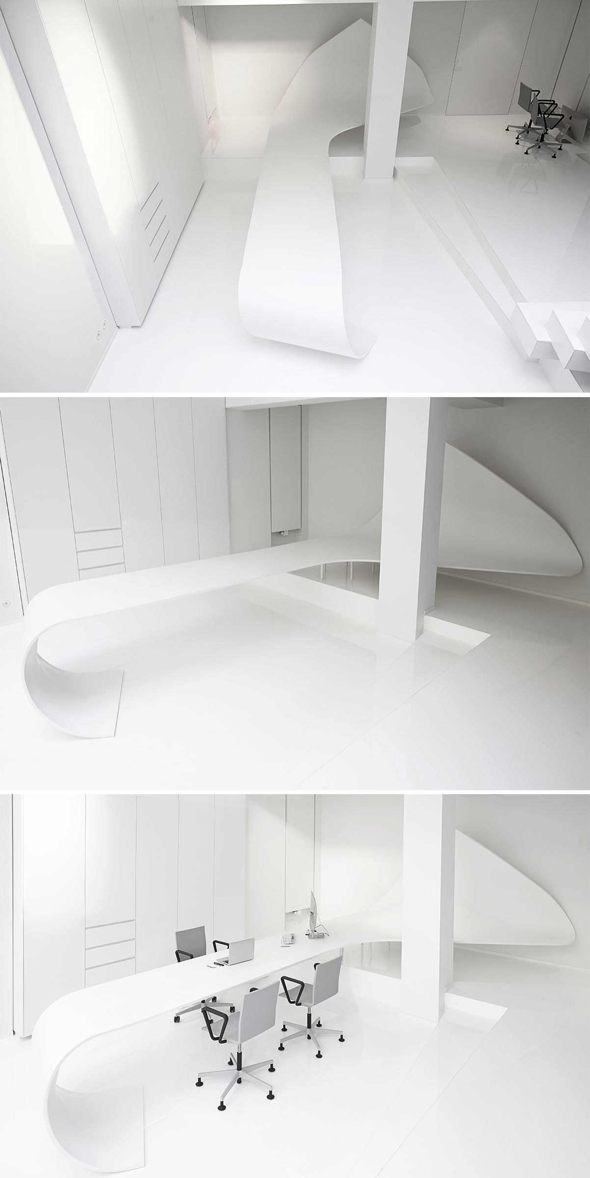 """Wave Desk"" Design: Studio Khashatryan. Fabrication: SAAM."