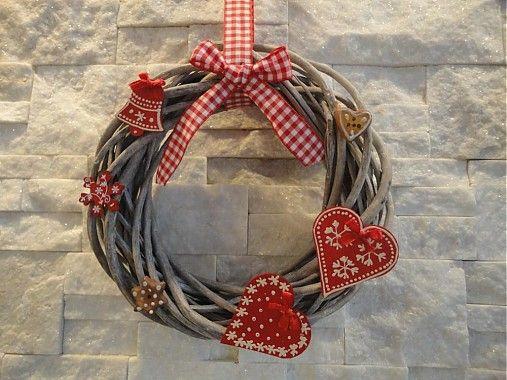 Ľudový Vianočný veniec II. by margo - SAShE.sk - Handmade Vianoce