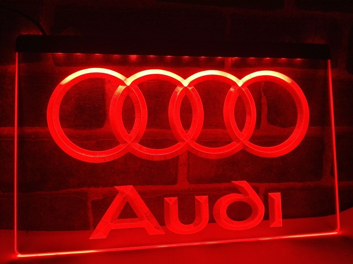 Audi car logo LED Neon Light Sign home decor Neon signs