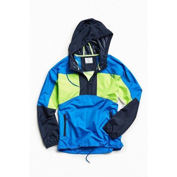 UO '90s Colorblocked Anorak Windbreaker Jacket (76 CAD