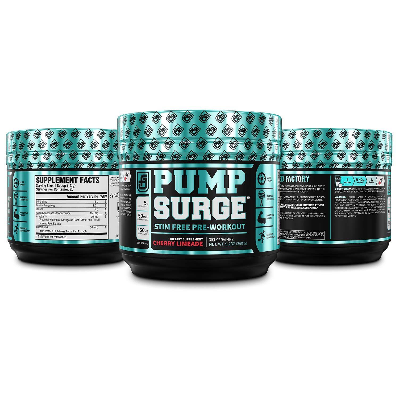 PUMPSURGE CaffeineFree Pump and Nootropic Pre Workout