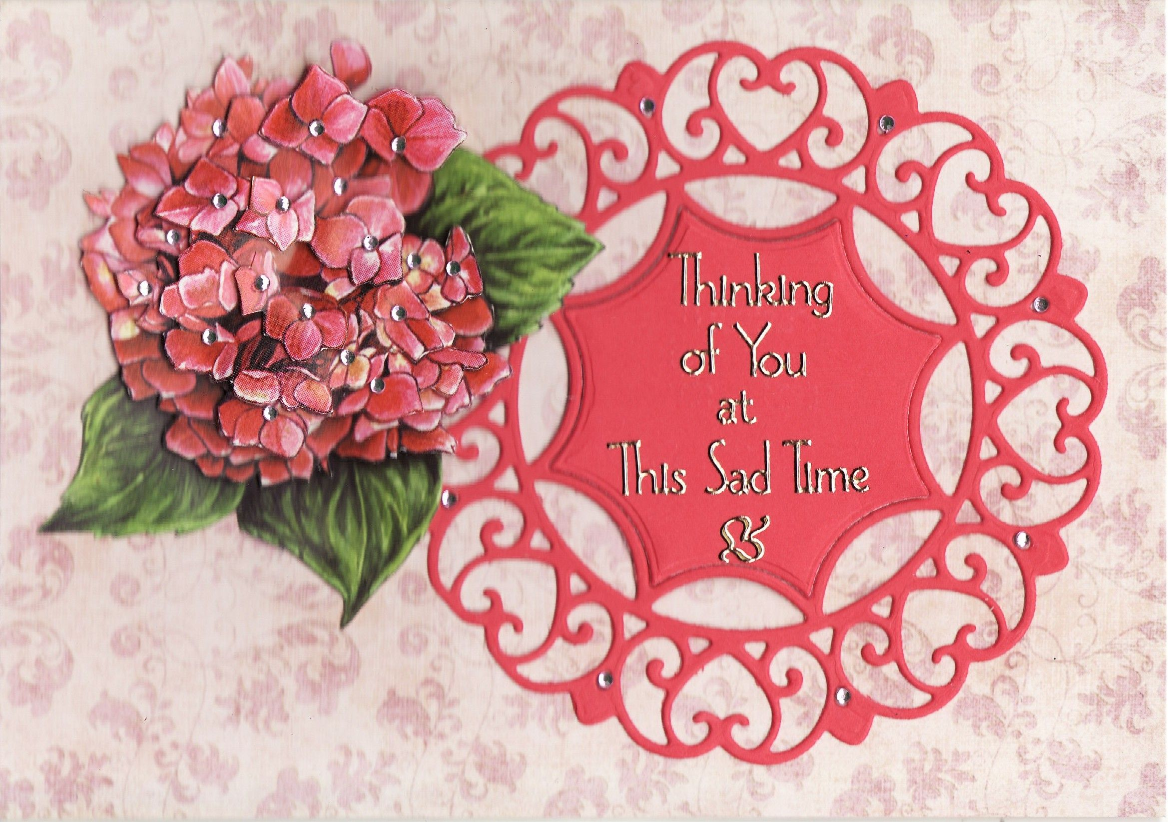 3d Thinking Of You At This Sad Time Card Tassie Scrapangel