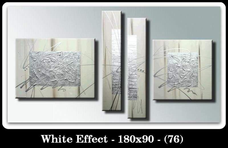 Quadri moderni argento bianco WHITE EFFECT (76) Astratti FIRMATI NEW ...