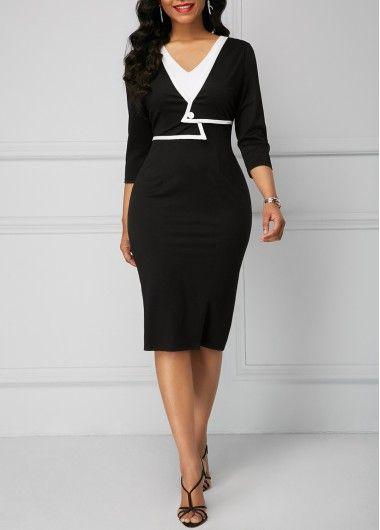 Split Neck Bowknot Embellished Flare Sleeve Beige Dress  c90ce036a