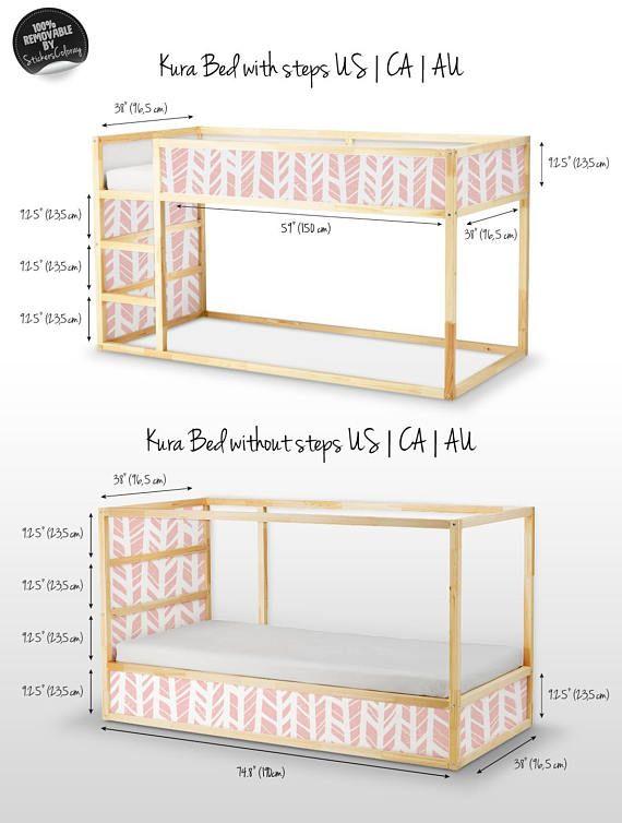 Decals For Kura Bed Ikea Herringbone Pattern Sticker Set Pack Of 5 Self Adhesive Children Furniture Decal Peel Stick Decor 14k Kura Bed Ikea Kura Bed Ikea Bed