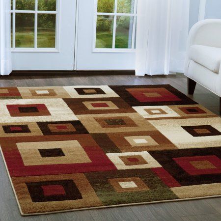 Home Dynamix Tribeca Collection Geometric Area Rug for Modern Home