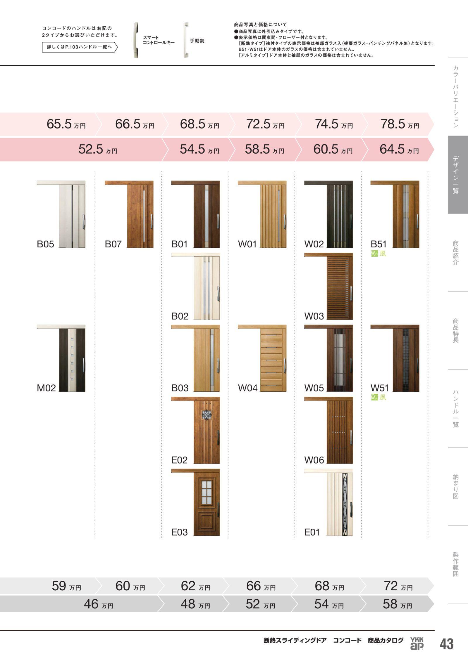 断熱スライディングドア コンコード 商品カタログ カタログビュー
