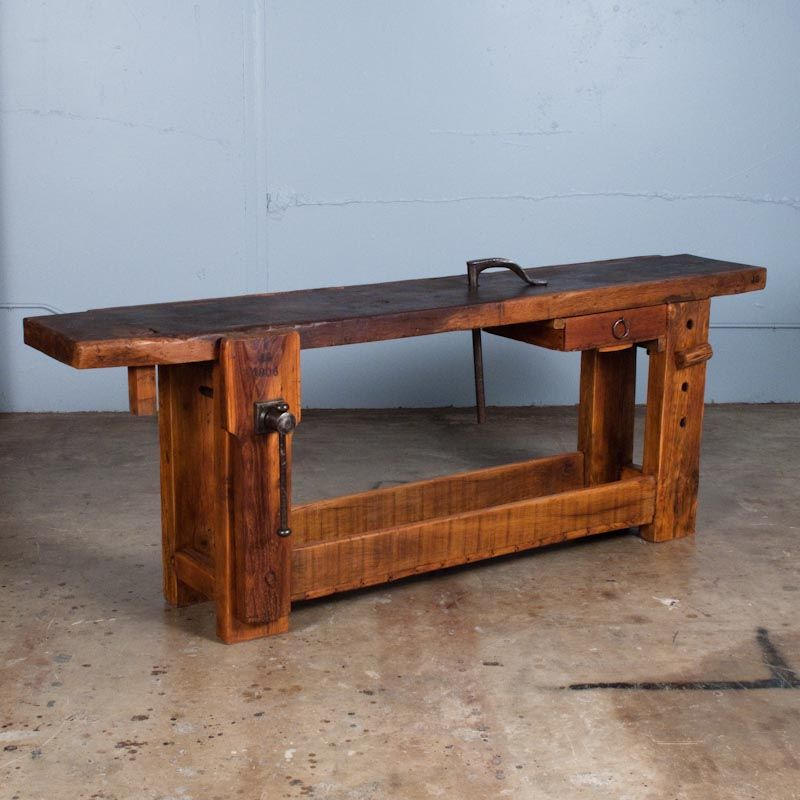 Antique French Workbench Woodworking Bench French Bench Tool Bench