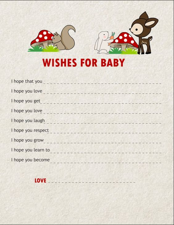 Printable Late Night Diaper Thoughts Baby Shower Activity ...  Woodland Creature Baby Shower Quotes