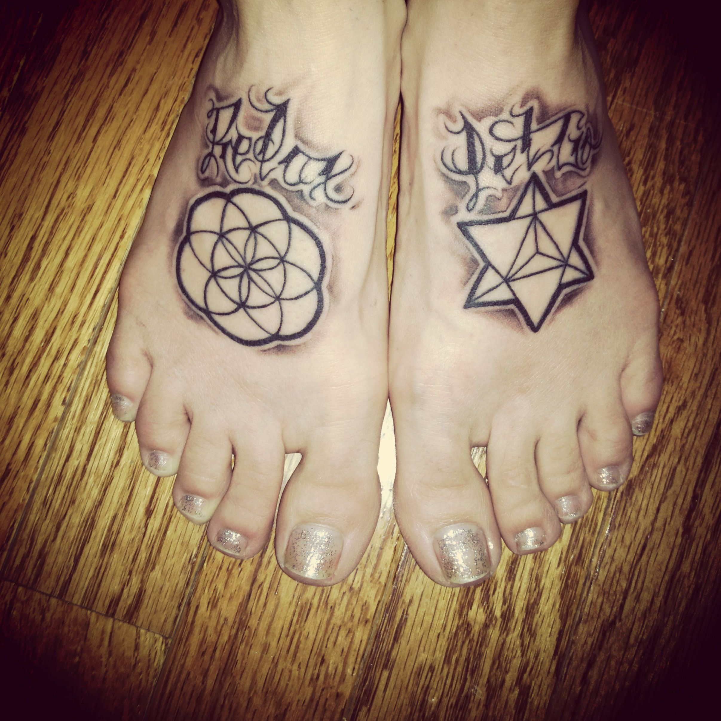 Relax and Let go #tattoo #seedoflife #merkaba | Tattoos ...