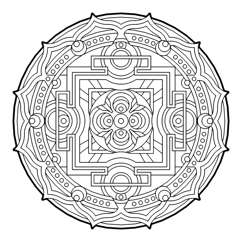 mandala coloring pages as therapy - photo#21