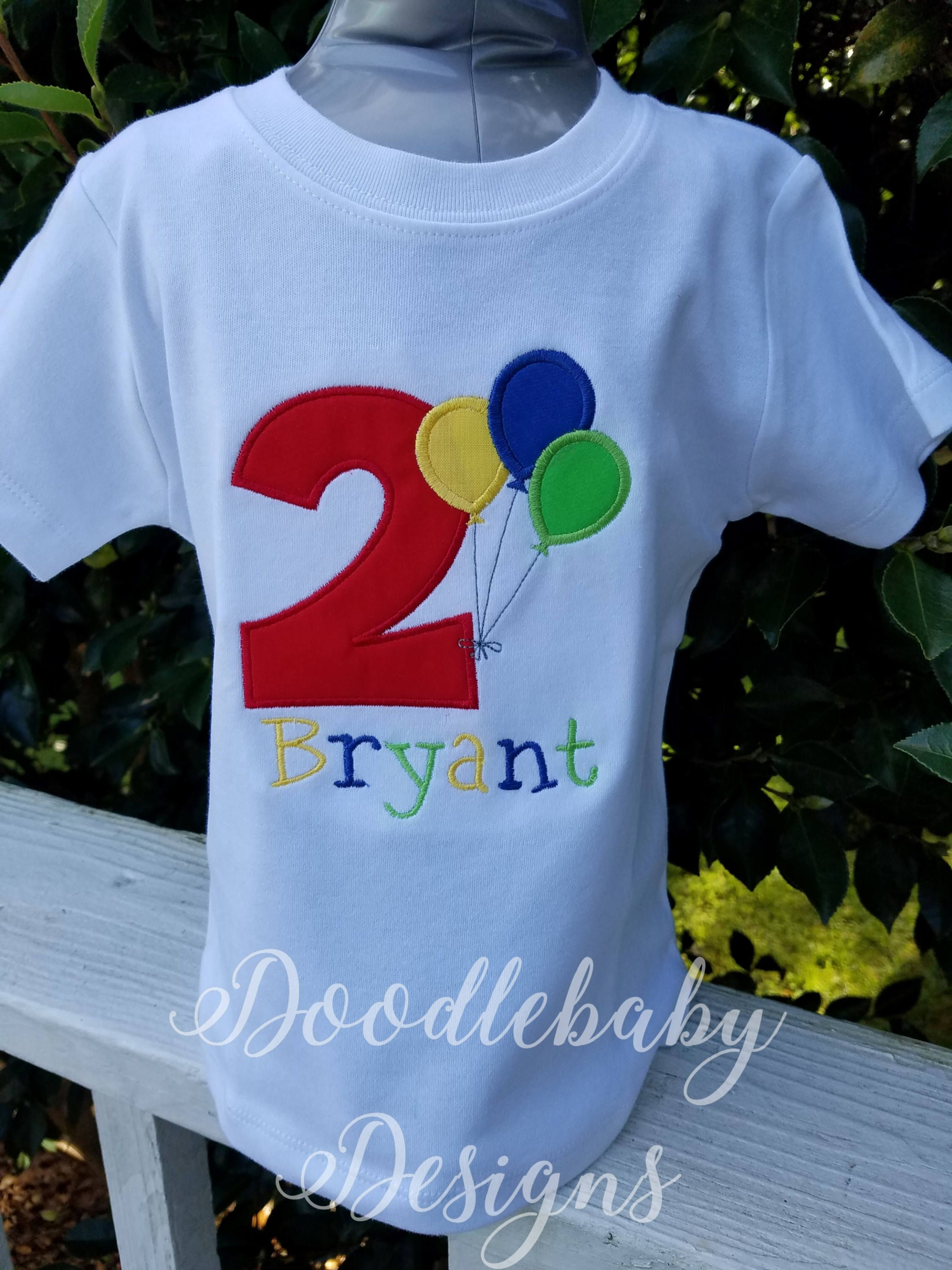 Balloon Applique For Birthday Tshirt Monogram Number Shirt Party Boutique Clothing By