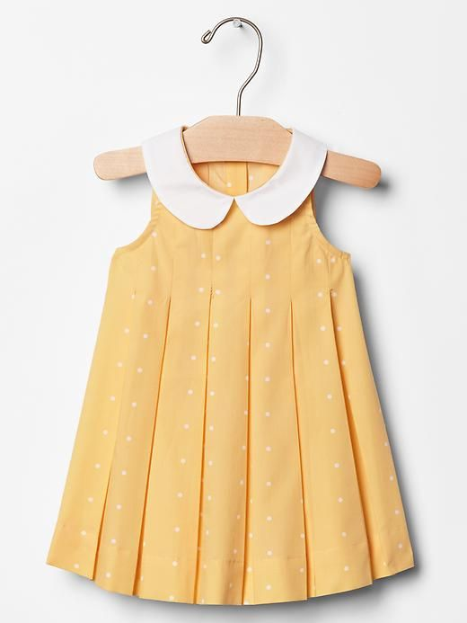 3d06d9728 Contrast-collar dot dress Product Image | Little One | Baby girl ...