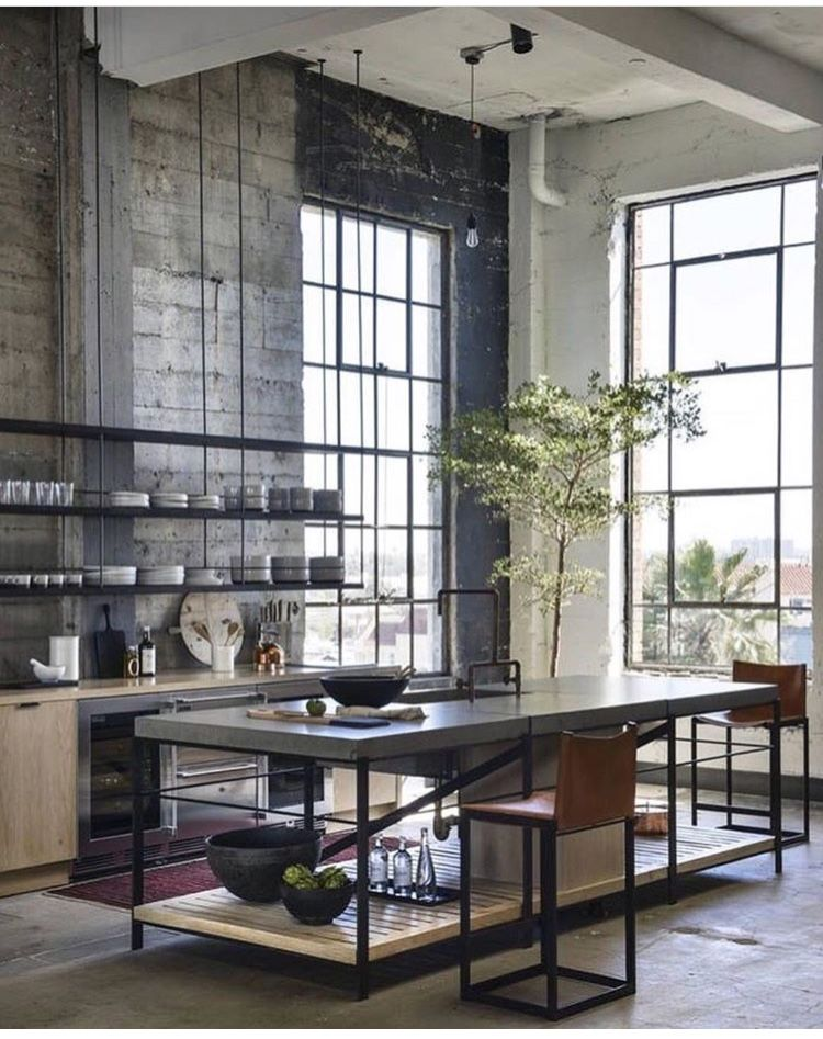 Pin By Marta Pegurri On Heart Of The Home Industrial Decor Kitchen Industrial Kitchen Design Industrial Style Interior