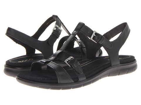 2173a36aaa32 ECCO Babette Sandal T-Strap Black Feather - Zappos.com Come highly  recommended for being comfortable for foot problems