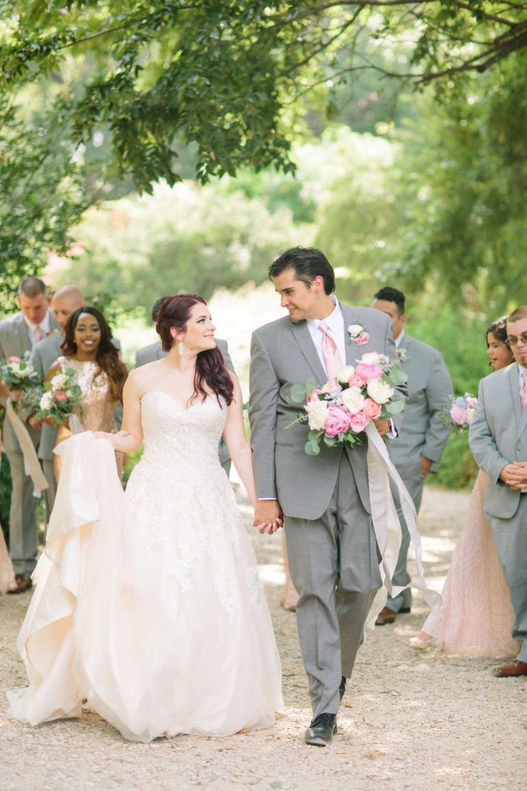 Romantic wedding at Piazza on the Green. Mediterranean ...