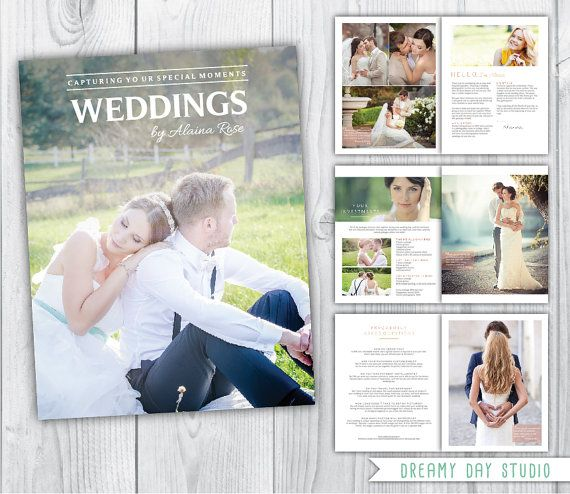Wedding Photography Magazine Template 8 Pages Wedding