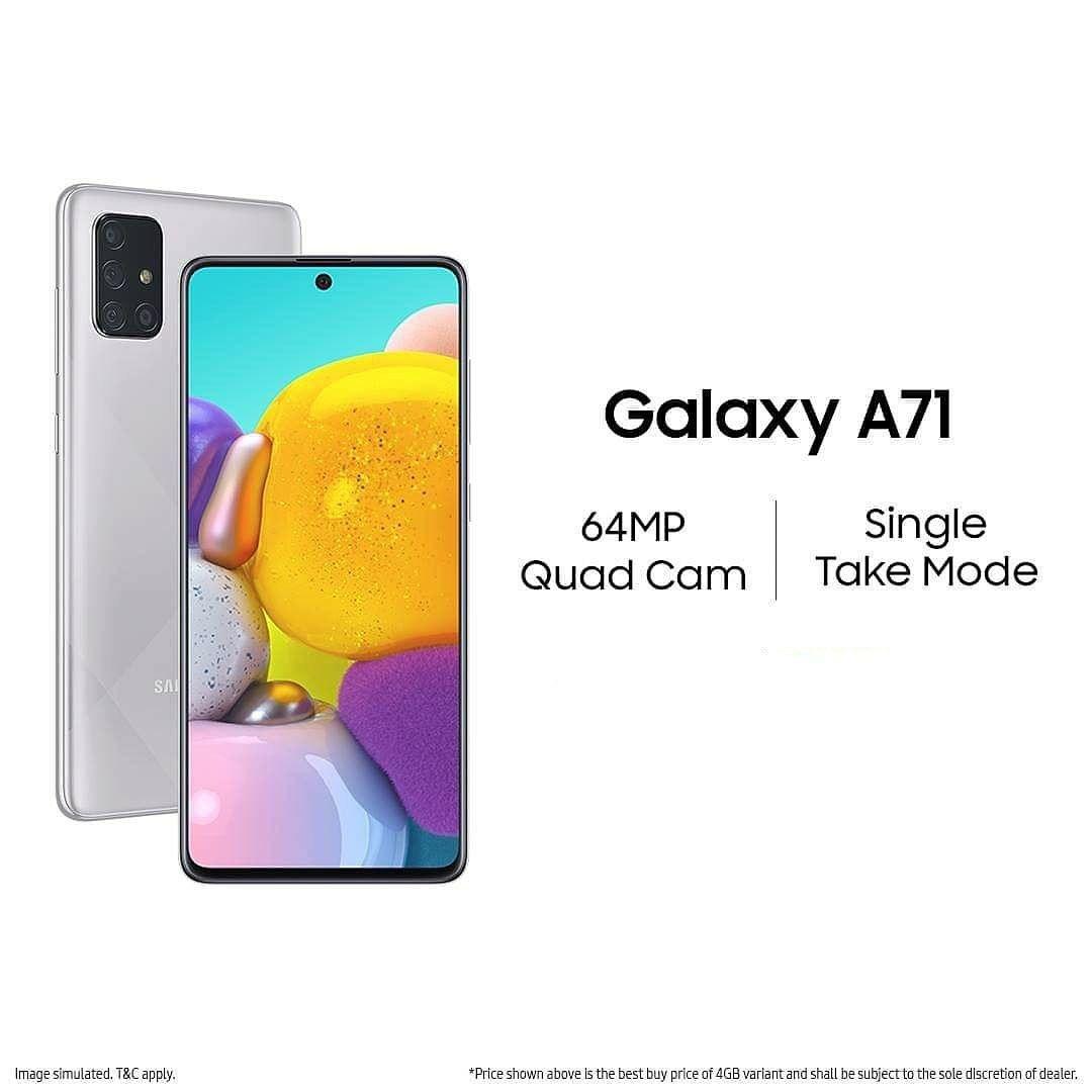Samsung Galaxy A71 8gb Ram 128gb Rom 4500mah Battery Mobile Shop Near Me Mobile Phone Shops Mobile Shop Phone Shop