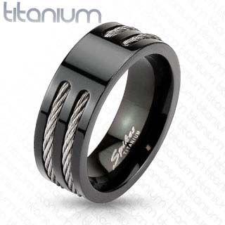 bague homme titanium