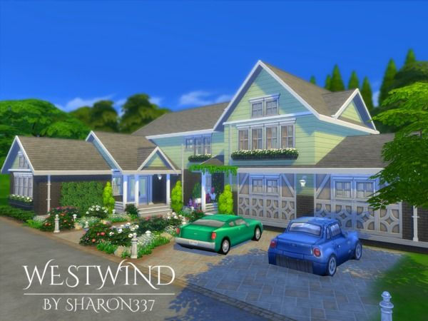 Westwind house by sharon337 at TSR via Sims 4 Updates