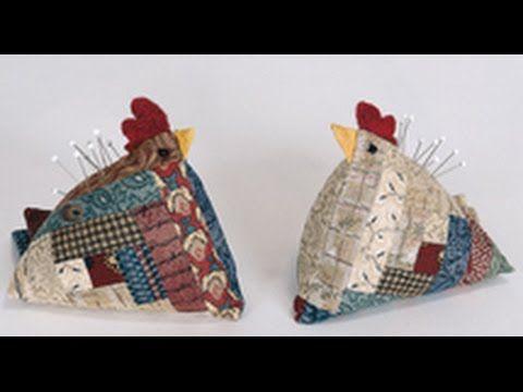 Log Cabin Kip Patroon.Kip Speldenkussen Quilten Met Gratis Patroon Pin Cushions