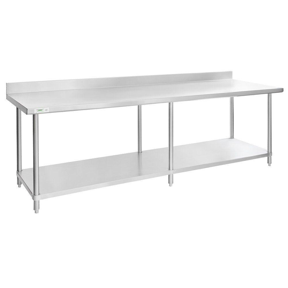 Regency 30 X 96 16 Gauge Stainless Steel Commercial Work Table With 4 Backsplash And Undershelf In 2020 Work Table Backsplash Table