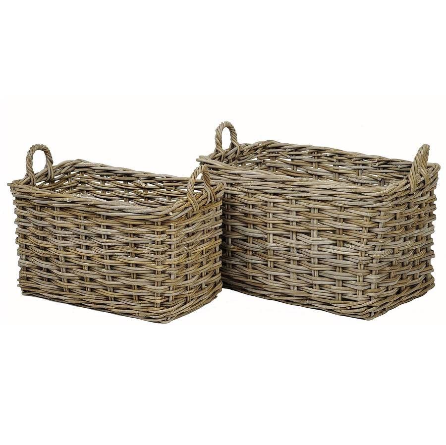 Willow Rectangular Basket