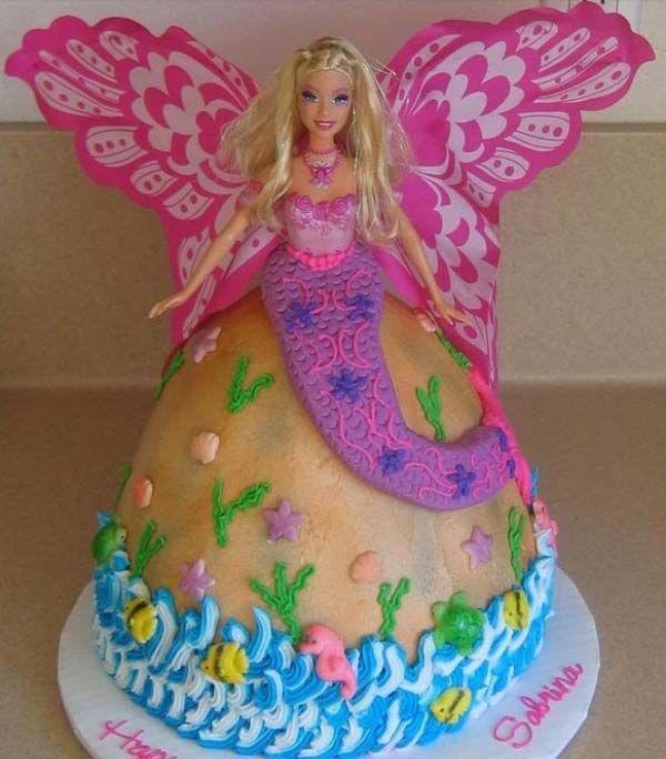 22 Mermaid Barbie Theme Cakes Design Ideas Cakes In 2019