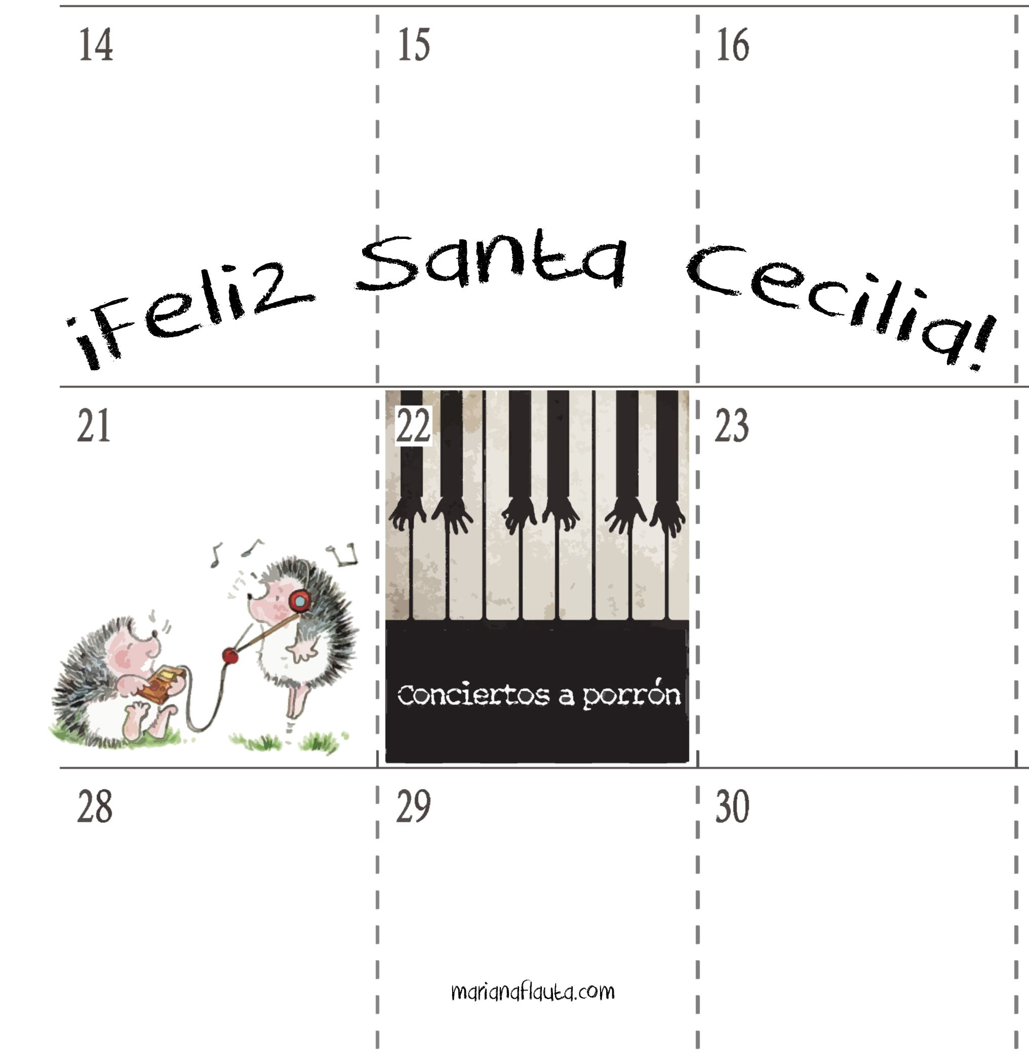 Feliz Santa Cecilia Flute MusicBlog Flauta Marianaflauta