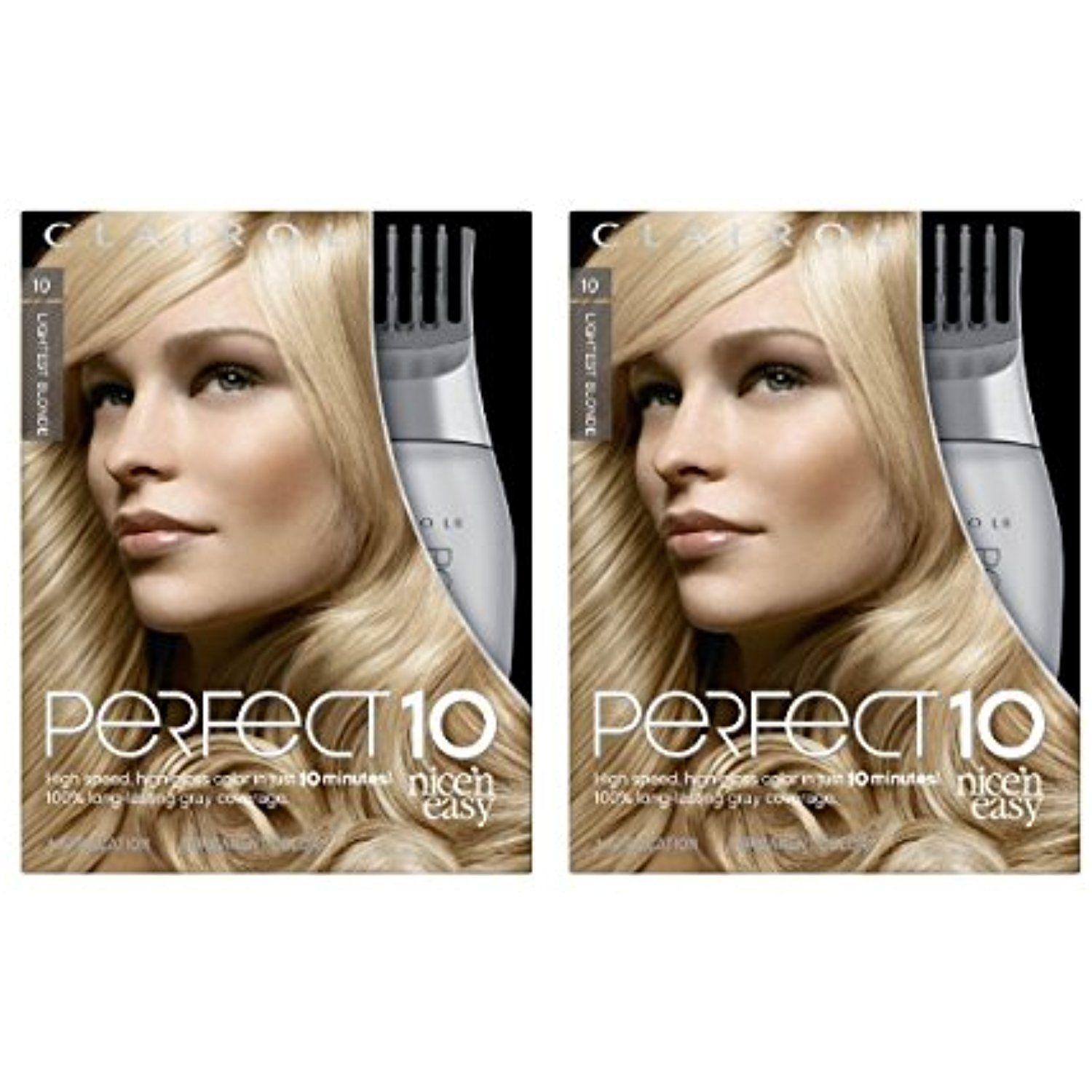 Clairol Perfect 10 By Nice N Easy Hair Color 010 Lightest Blonde 1