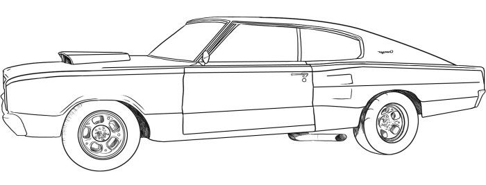 Dodge Cars Classic Coloring Page | Teacher Stuff | Pinterest