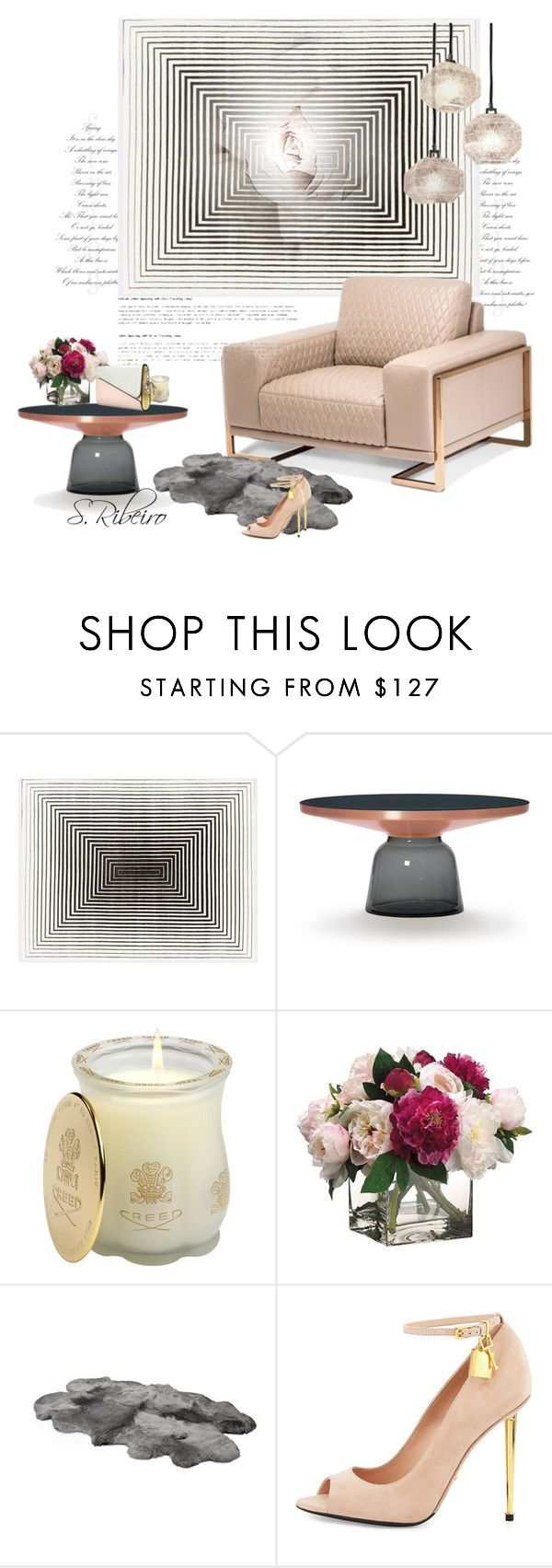 """Sem título #3262"" by sribeiro ❤ liked on Polyvore featuring interior, interiors, interior design, home, home decor, interior decorating, Michael Amini, Creed, Allstate Floral and UGG Australia"