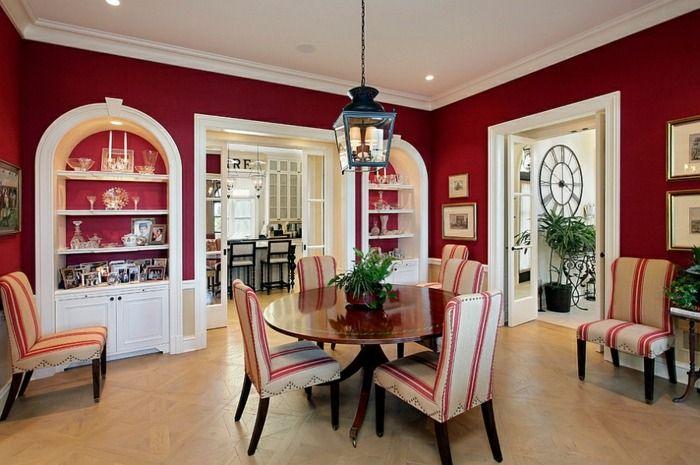 Esszimmer in Rot beim mediterranen oder Landhausstil zgfzj Pinterest