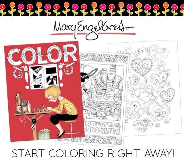 Mary engelbreit adult coloring book available at. Www ...