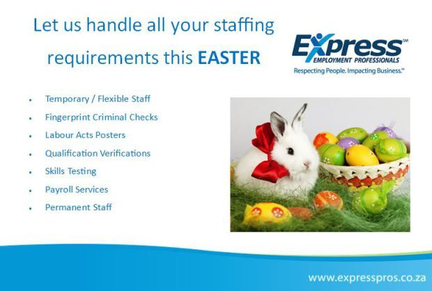 Let Us Handle All Your Staffing Requirements This Easter With