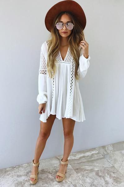 Slip Into Love Dress White White Boho Dress White Dress Summer Short Short White Boho Dress