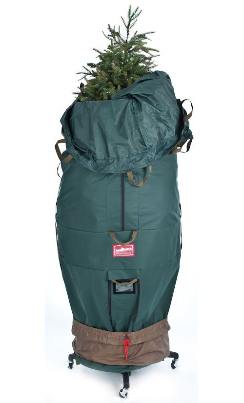 Christmas Tree Storage Bag With Wheels Brilliant This Upright Artificial Tree Bag Is The Perfect Cover To Safely