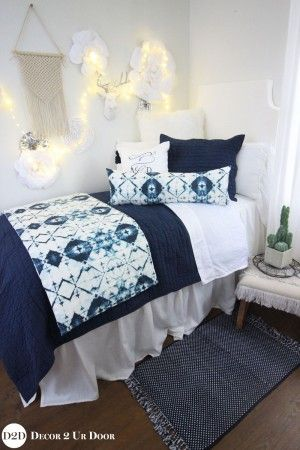 Auburn University Tigers Navy & Orange Dorm Bedding Set #collegedormroomideas