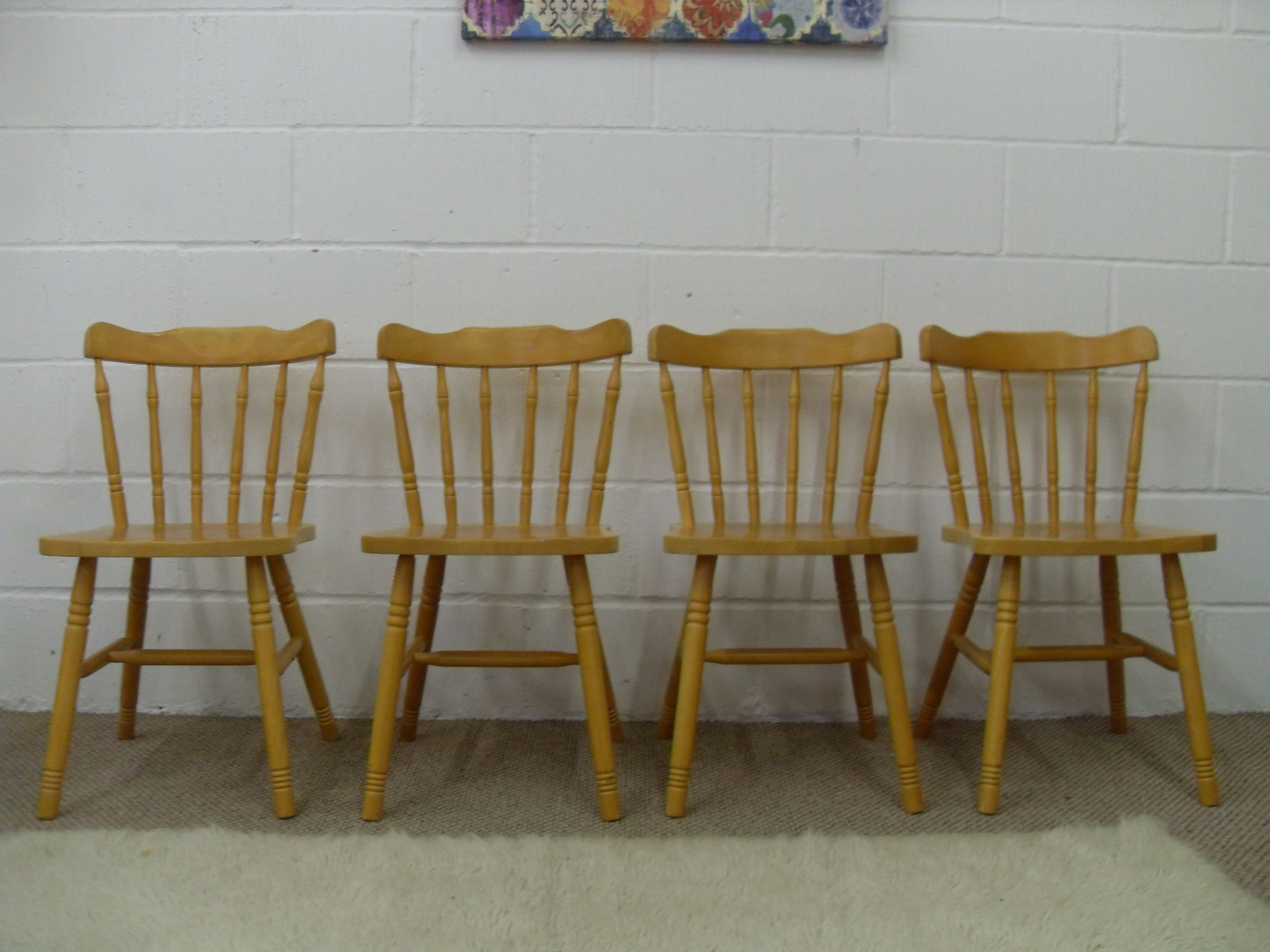 4 x wooden chairs cottage style w 41 d 40 h 45 cm 59 http rh pinterest com