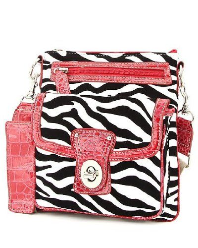 Zebra Print Cross Body Hipster Handbag (White & Red) - http://handbagscouture.net/brands/handbag-incorporated/zebra-print-cross-body-hipster-handbag-white-red-2/