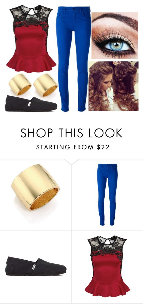 """""""Fae #1"""" by raindays ❤ liked on Polyvore featuring Kenneth Jay Lane, Emporio Armani, TOMS and Chicnova Fashion"""