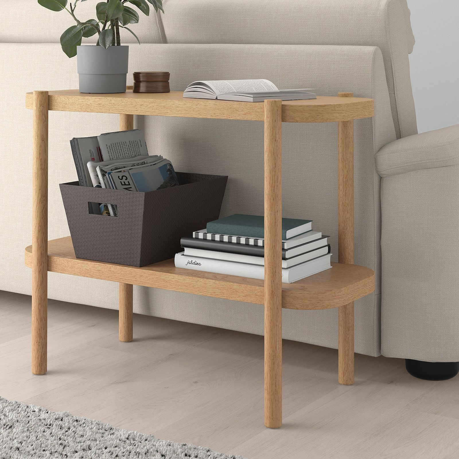 Listerby Console Table White Stained Oak 36 1 4x15x28 Ikea In 2021 Console Table Bed Frame With Storage Solid Oak Table [ 1600 x 1600 Pixel ]