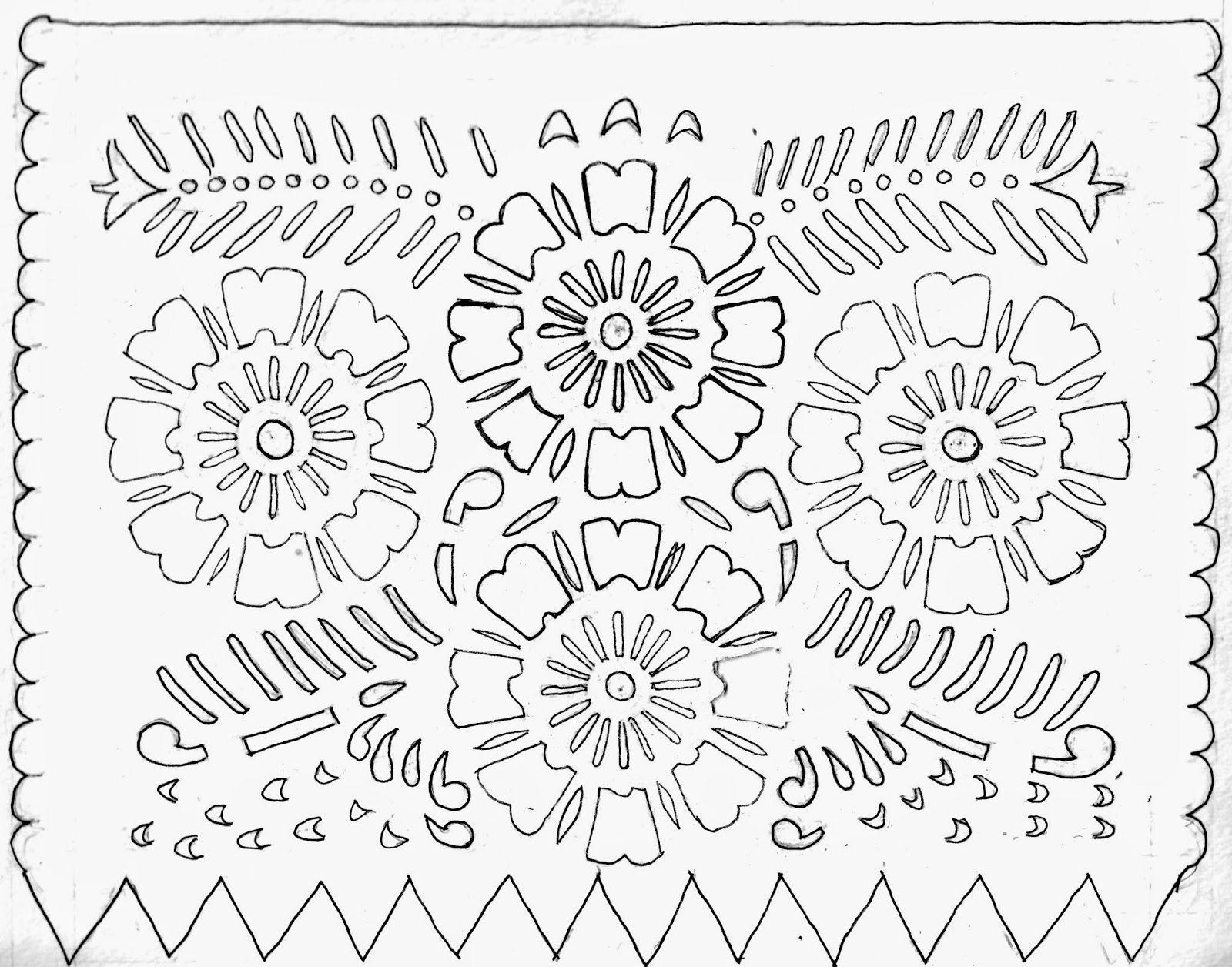photo about Papel Picado Printable identified as Picture final result for papel picado dia de los muertos templates