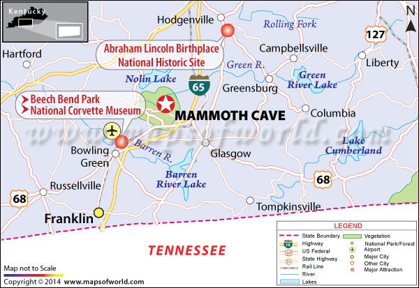 Mammoth Cave National Park, Kentucky, USA - Map, Facts, Best time to on kentucky on a us map, kentucky national parks map, kentucky united states map,