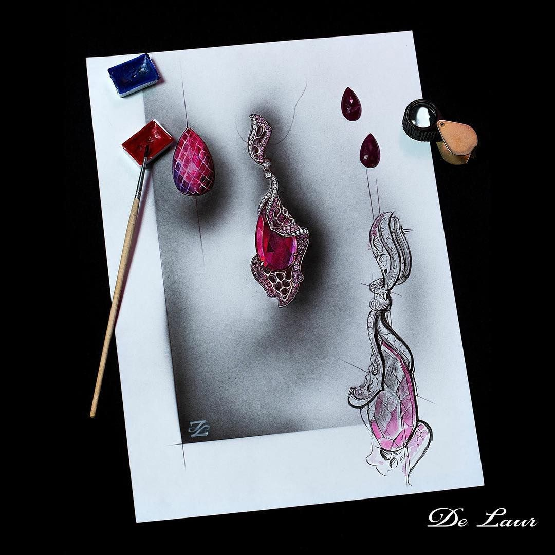 #Delaur #sketch #Earrings #FromStartToEnd #LuxuryJewelry #UniqueJewels #HighJewelry #FantasyCollection Model: S 117