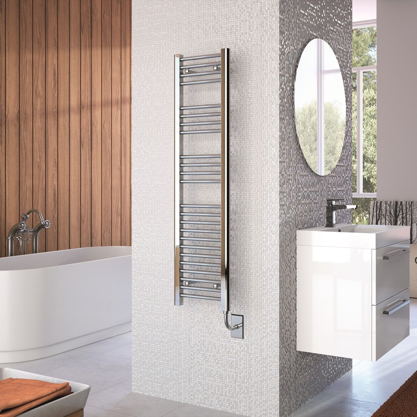 This Slimline Electric Heated Towel Rail Is Ideal For Small Bathrooms