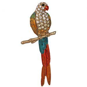 Tropical Island Parrot Pin