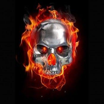 Flaming Skull Wallpaper