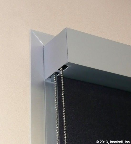 Insolroll 174 Roller Shade Fascia In Clear Anodized Color