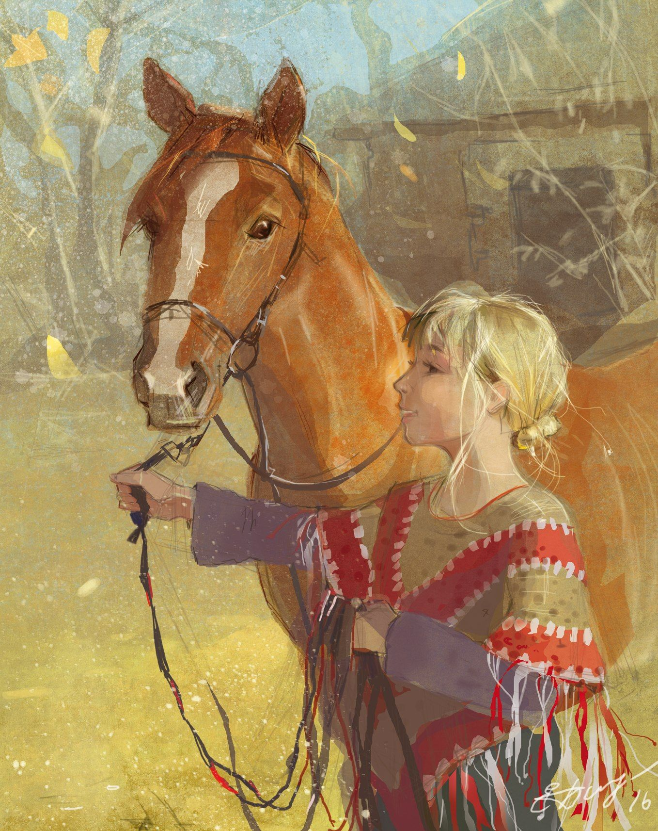 Открытки для девочек лошади, гифки